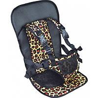Автомобільне крісло для дітей Multi Function Car Cushion Жовте (леопардове), фото 1