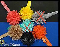 Повязка на голову Цветок 7 цветов повязочка для детей девочек младенца новорожденной лента пов'язочка