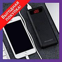 Внешний аккумулятор Power Bank AWEI 20000 mAh P70K с LCD-дисплеем - Черный / Павербанк / Повер банк