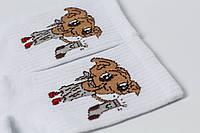 Носки Crazy Llama`s Добби белые 222-78, фото 1