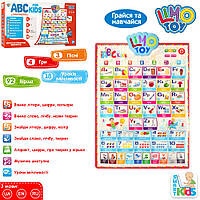 Плакат обучающий Английский алфавит Limo Toy