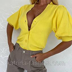 Жіночий стильний кардиган з коротким рукавом