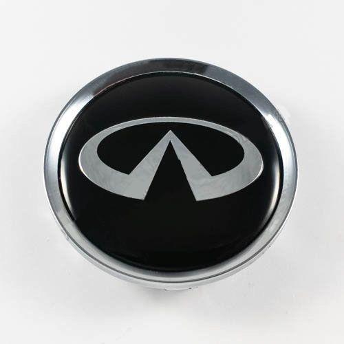 Колпачок для диска   Infiniti черный/хром лого для дисков Rial Alutec N32 (64 мм)