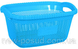 Корзина для белья VIOLET HOUSE BLUE Виолетта  1003 Виолетта BLUE б/кр. 28 л