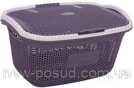 Корзина для белья с крышкой VIOLET HOUSE PLUM Виолетта 1016 Виолетта PLUM 40 л