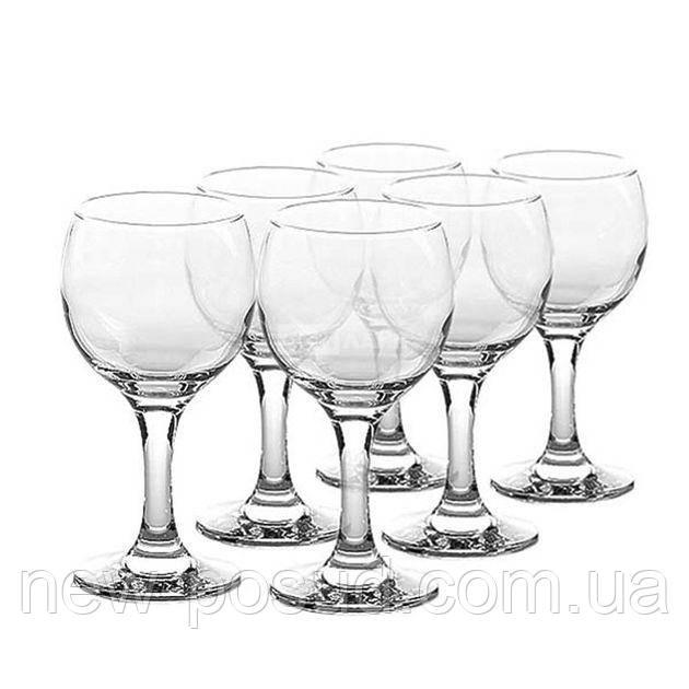 Набір келихів 225 мл червоного вина 6 предметів Bistro Pasabahce 44412