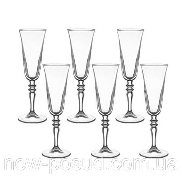 Набір келихів для шампанського 6 предметів Vintage 190 мл Pasabahce 440283