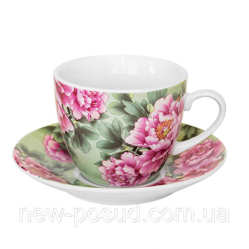 Чайная пара Keramia Пионы 200 мл K24-198-056/1