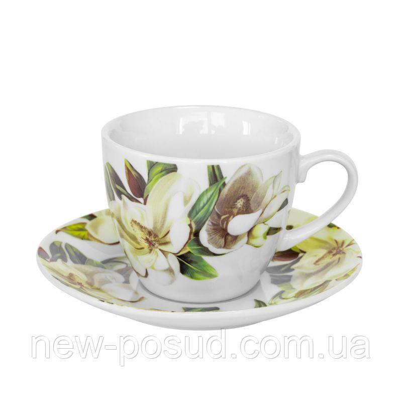 Чайна пара Keramia Біла Магнолія K24-198-035/1