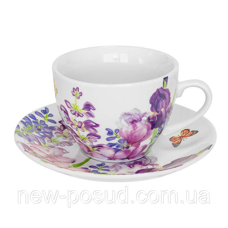 Чайная пара Keramia Пурпурные цветы 200 мл K24-198-003/1