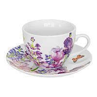 Чайна пара Keramia Пурпурні квіти 200 мл K24-198-003/1