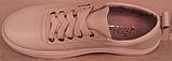 Белые кроссовки женские кожаные от производителя модель РИ034, фото 4