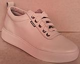Белые кроссовки женские кожаные от производителя модель РИ034, фото 2
