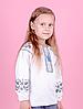 Вышиванка для девочек с длинным рукавом, белая, фото 4
