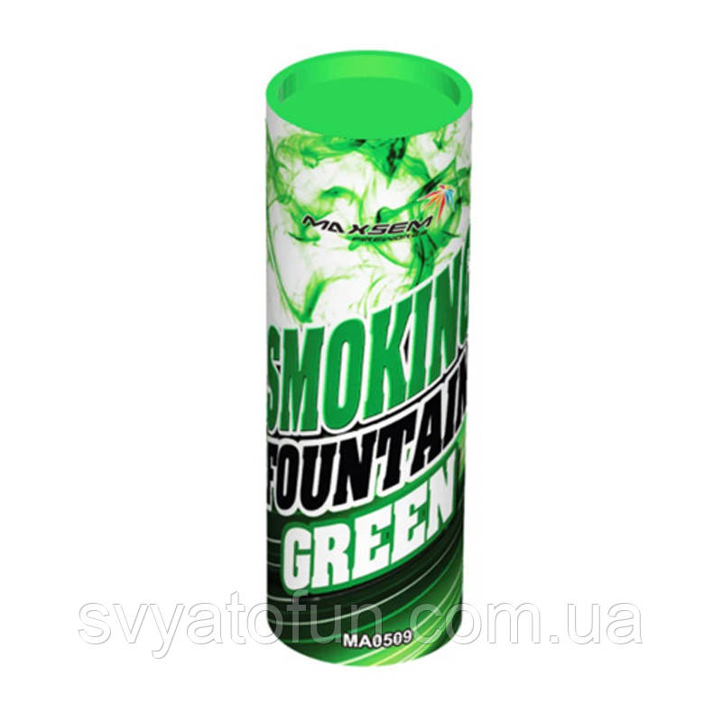 Цветной дым зеленый Китай