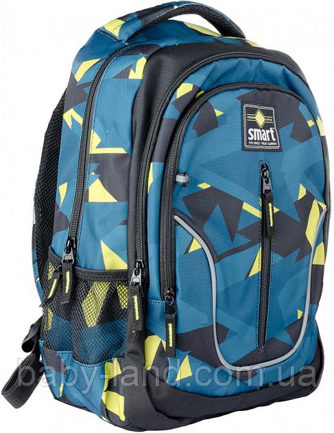 Рюкзак школьный TN-07 ʺGlobalʺ Smart 558631 Черно-бирюзовый
