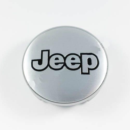 Ковпачок для диска Jeep срібло / чорний лого (59 мм)