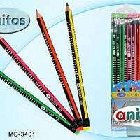 Карандаши графитные c ластиком HB