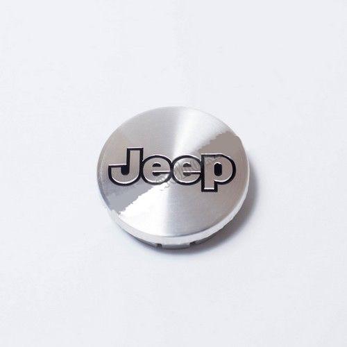 Колпачок для диска    Jeep серебро/черный лого (55 мм)