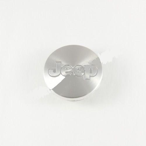 Колпачок для диска   Jeep серебро (55 мм)