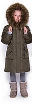 Зимняя детская удлинённая куртка для девочки размеры с 32 по 42, фото 2