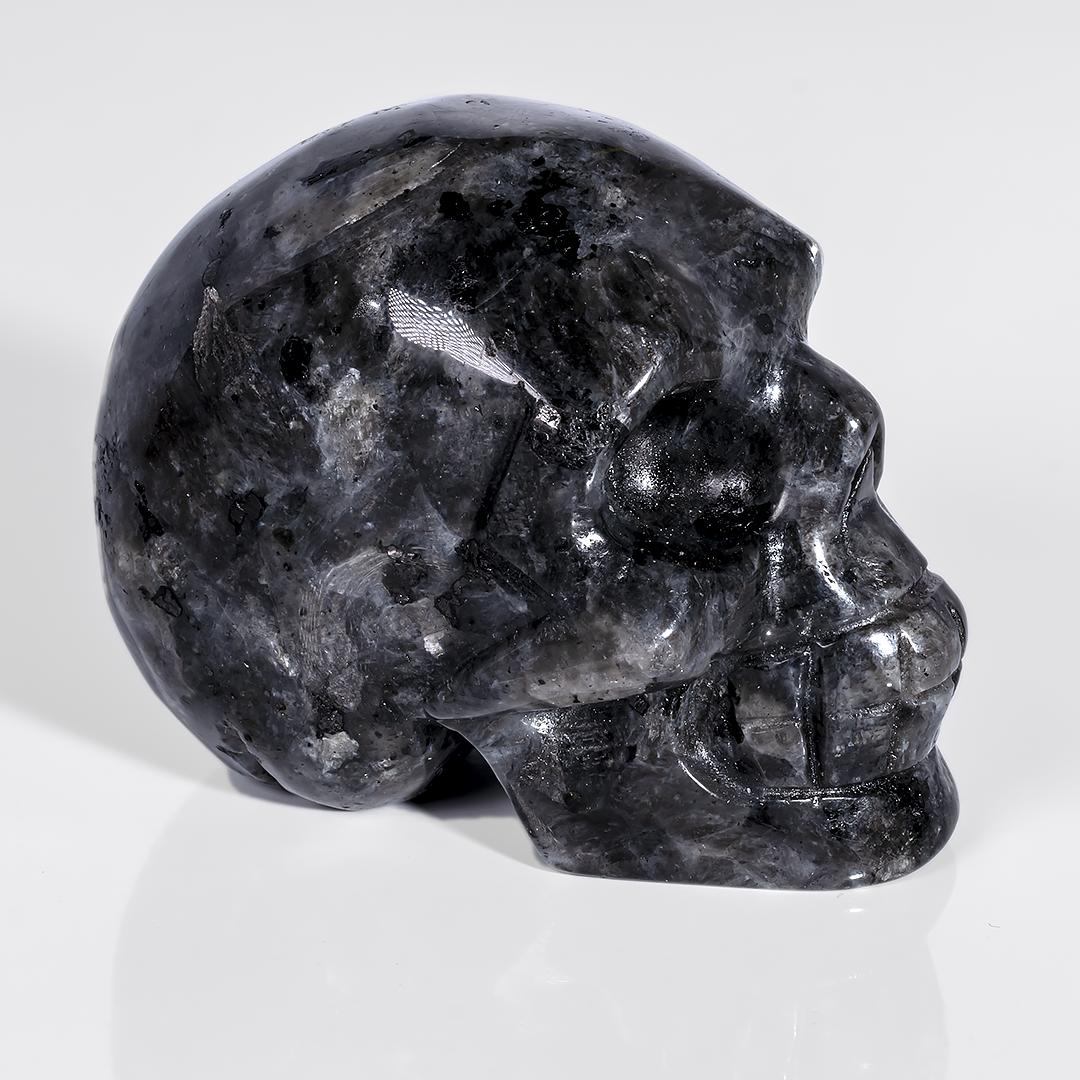 Статуэтка череп из обсидиана слезы Апачей, 645ФГО