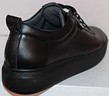 Черные кроссовки женские кожаные от производителя модель РИ034-1, фото 4
