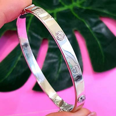 Дуже гарний срібний браслет з Олександритом