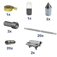 Комплект заземления КЗЦ-20 (30м) из оцинкованных материалов