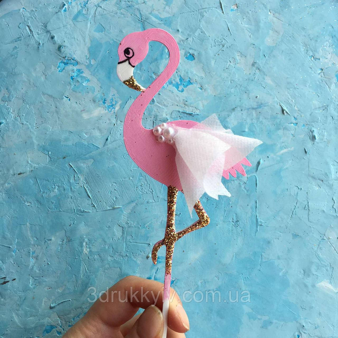 """Топпер на торт """"Фламінго #1"""" (1 шт.), Кольори можуть бути різні/ """"Фламинго #1"""""""