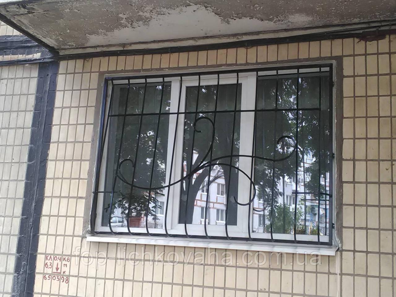 Решетка оконная каплевидная