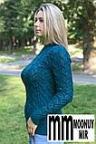 Свитер женский ажурная вязка, фото 3