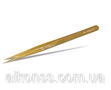 Прецизійний пінцет MECHANIC AA-KING11 King Series. Прямий , золотий . Висока міцність .