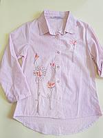 {есть:10 лет,11 лет} Рубашка для девочек,  Артикул: N0053-розовый [10 лет]