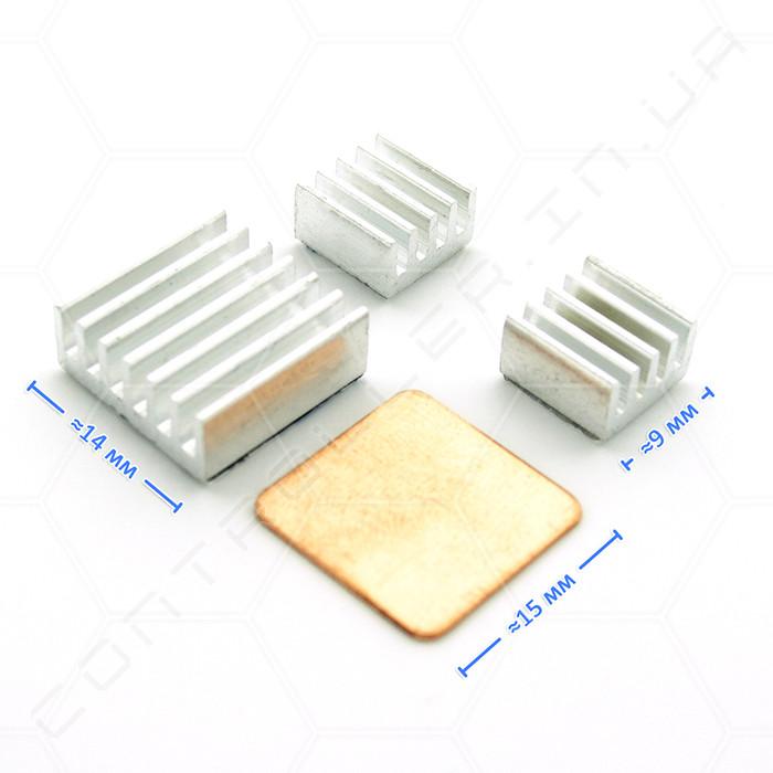 Комплект радіаторів для охолодження Raspberry Pi 4 шт.