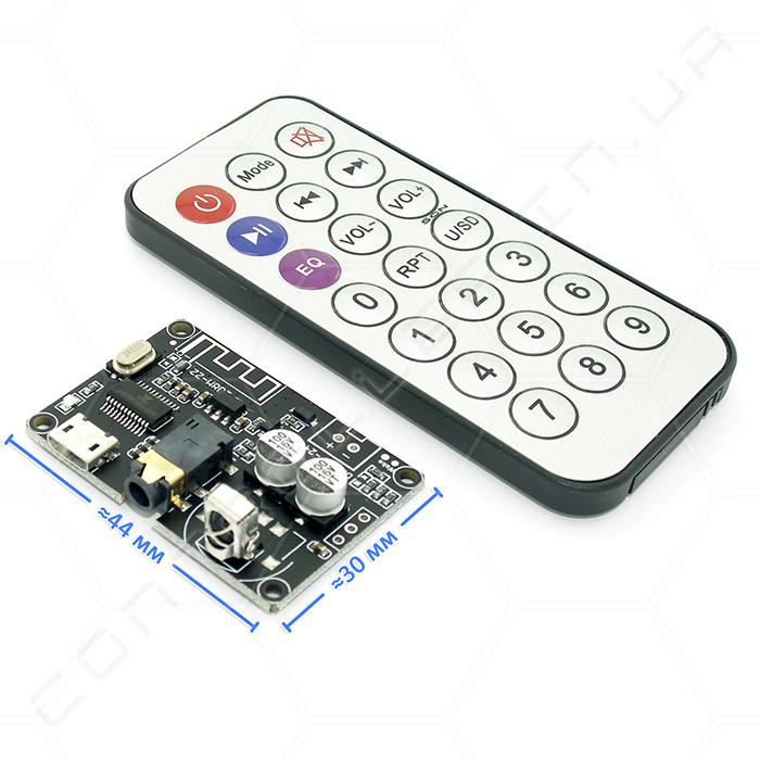 Модуль Bluetooth 5.0 стерео аудіо XY-WRBT з пультом