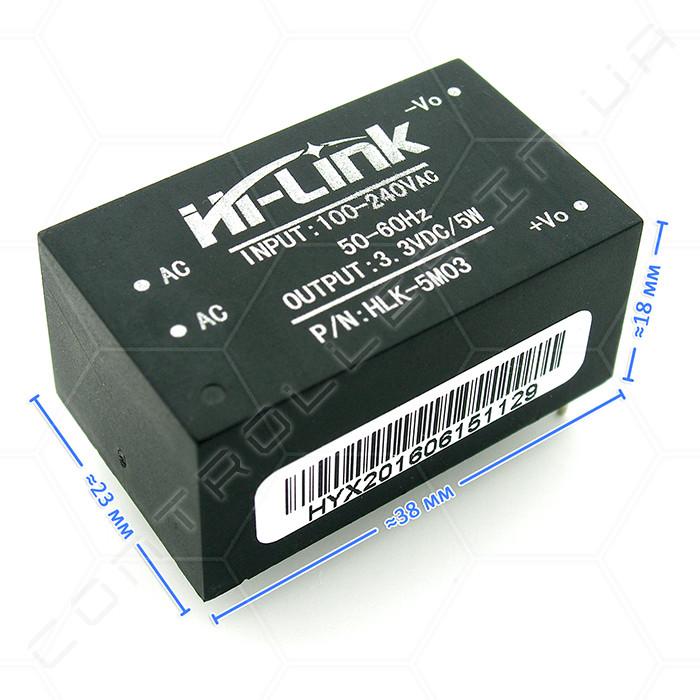Модуль блока питания HLK-5M03 5W 1,5А 3,3В