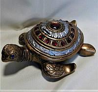 Копилка гипсовая Черепаха камни, 16 на 18 см