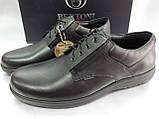Осенние комфортные кожаные туфли Bertoni, фото 5