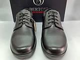 Осенние комфортные кожаные туфли Bertoni, фото 6