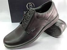 Осенние комфортные кожаные туфли Bertoni