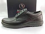 Осенние комфортные кожаные туфли Bertoni, фото 4
