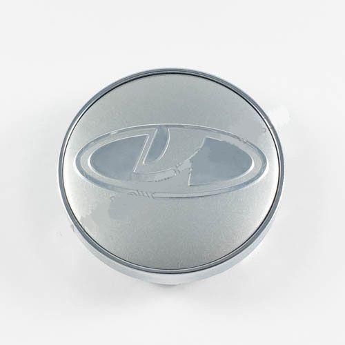 Колпачок в легкосплавные диски Lada серебро/хром лого (60 мм)