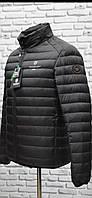 Куртка мужская черная стеганная короткая демисезонная БОЛЬШИХ РАЗМЕРОВ фирмы TIGER FORSE