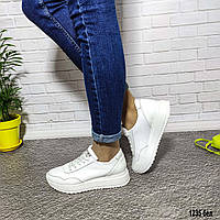 Женские белые кожаные кроссовки. Натуральная кожа. Размеры 36, 37, 38, 39, 40, 41