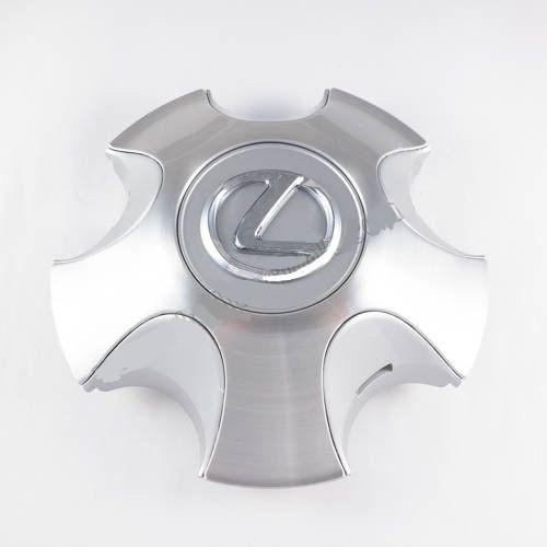 Колпачок в легкосплавные диски Lexus реплика серый/хром лого (159 мм)