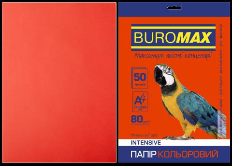 Папір кольоровий А4, 80г/м2, INTENSIV, червоний, 50л.