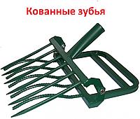 Чудо-лопата КОВАННАЯ СУПЕР ЗЕМЛЕКОП-К 5 зубьев (с 1 черенком)