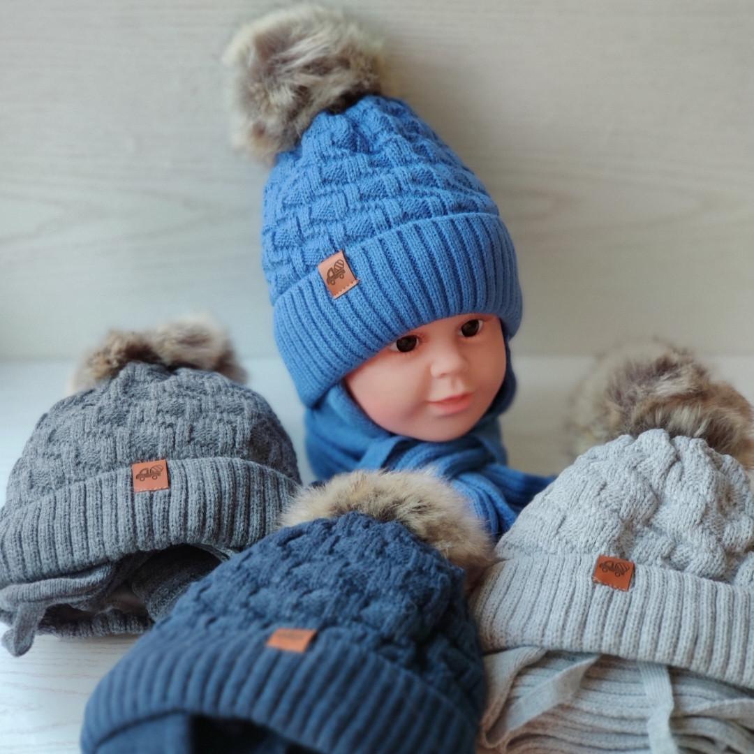 Комплект для мальчика (шапка+хомут) Grans A 985 ST
