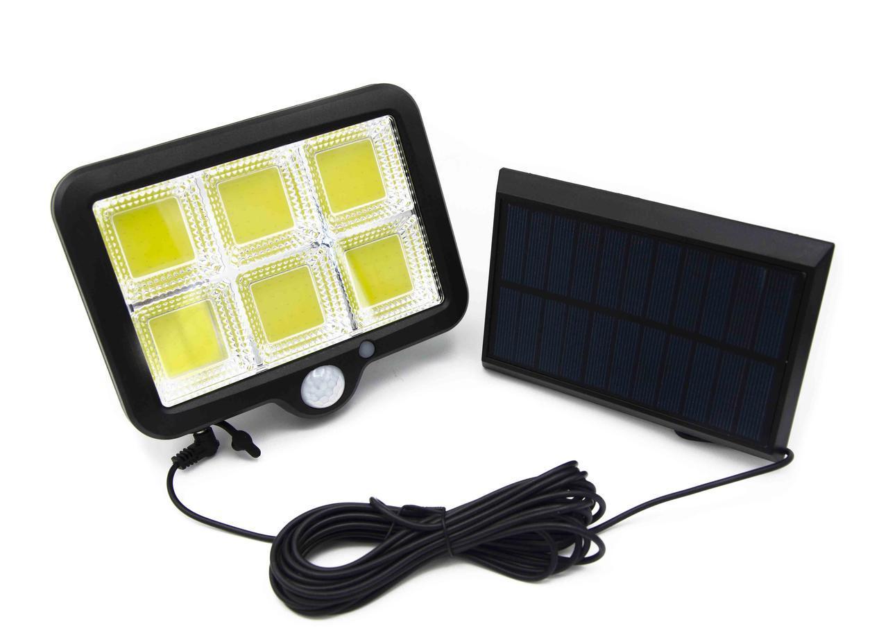 Уличный фонарь с датчиком движения на выносной солнечной батарее LF-1723 Split Solar Wall Lamp В подарок solar